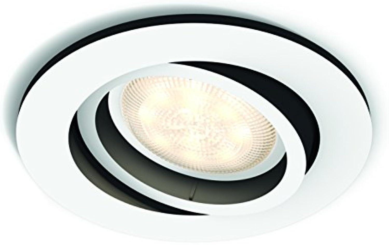 Philips Hue Weiß Ambiance Milliskin 5,5 W GU10 Einbauspot, Wei
