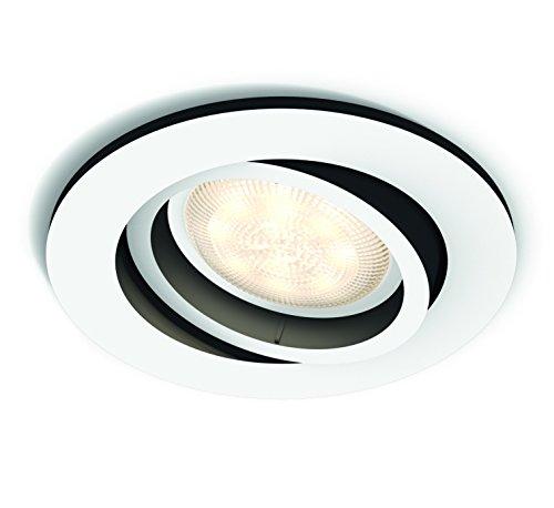 Philips Hue White Ambiance LED Einbauspot Milliskin, rund, dimmbar, alle Weißschattierungen, steuerbar via App, weiß, rund, kompatibel mit Amazon Alexa (Echo, Echo Dot)