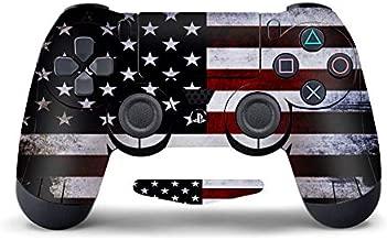 DAPANZ Skin Sticker Vinyl Decal Cover for Sony Playstation 4 DualShock 4 Wireless Controller + LightBar Skin(American Flag)