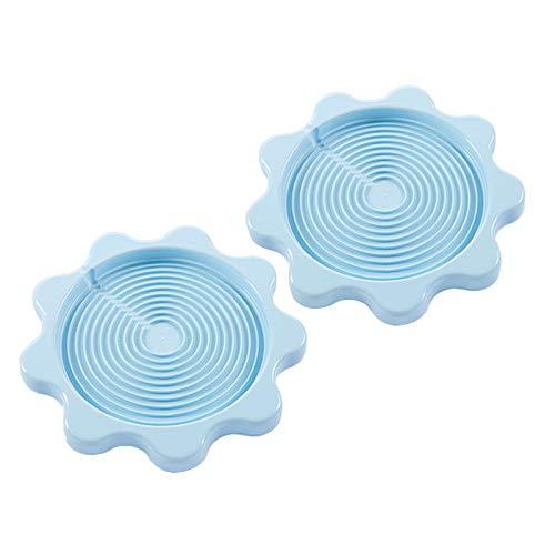 Yemiany Manteles individuales Kettle,Taza posavasos,2PCSBandeja aislante para hervidor de agua, almohadilla aislante antideslizante para agua caliente, alfombrilla para hervidor(azul, 23,5x2cm)