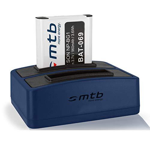 Batería + Cargador Doble (USB) para Sony NP-BG1 NP-FG1 / Cyber-Shot DSC-W90, W270, W300, WX1, H90, HX30V, N2, T100, … - v. Lista