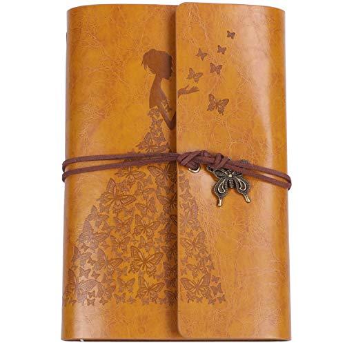 HLPIGF Revistas de cuaderno recargables, A6 encuadernado del cuero Diario de viaje Dibujo de arte Sketchbook Revistas para Escribir para Mujeres/Dia de San Valentin, Adolescentes, ninas y ninos