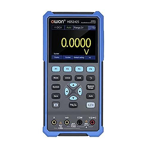 Elikliv Osciloscopio, Multímetro Digital Osciloscopio, HDS274S 3-in-1 Portátil Osciloscopio Multímetro 2CH 40MHz Ancho de Banda 20000 Cuenta para Coche Audio Automotriz Electrónico