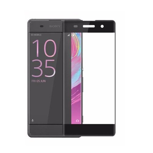 ELICA 5D (Pack of 1) Full Curve Tempered Glass for Sony Xperia XA1 Dual G3121 / G3112 / G3125 / G3116 / G3123 - Black