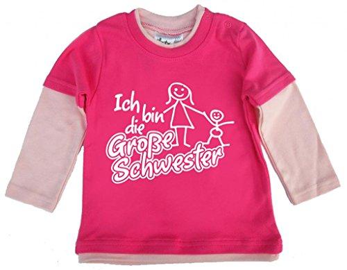 Dirty Fingers Dirty Fingers, Ich bin die Große Schwester, und Kleinkind, Skater Top, 12/18m, Hot Pink