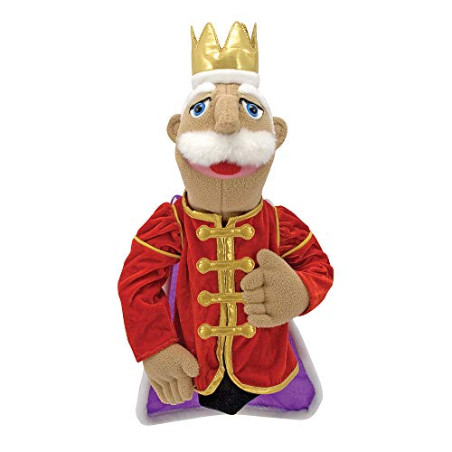 Melissa & Doug King Puppet With Detachable Wooden Rod for...