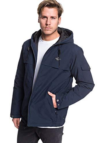 Quiksilver EQYJK03522 Veste à Capuche imperméable Homme, Navy Blazer, FR : S (Taille Fabricant : S)
