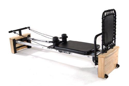 "Stamina AeroPilates Pro XP 557 Home Pilates Reformer with Free-Form Cardio Rebounder Wood/Black/Silver, 98"" L x 23.5"" W x 15"" H"