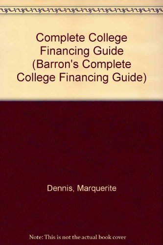 Complete College Financing Guide Barrons Complete College Financing Guide