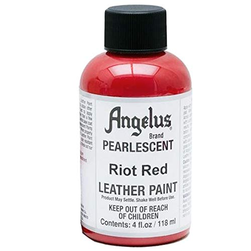 Angelus Leather Paint 4 oz Pearl Riot Red