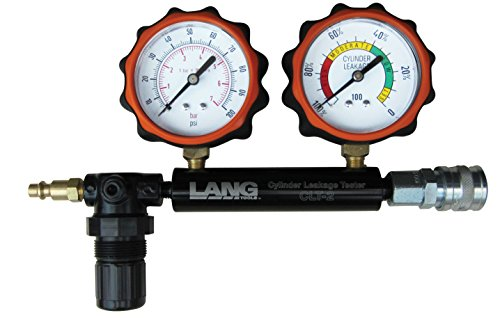 Lang Tools CLT-2 100 PSI Cylinder Leakage Tester with 2 Gauges