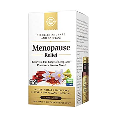 Solgar Menopause Relief - 30 Tablets - Helps Relieve Hot Flashes, Anxiety, Exhaustion, Irritability, Sleep Disturbances & More - Promotes a Positive Mood - Non-GMO, Gluten Free, Vegan - 30 Servings