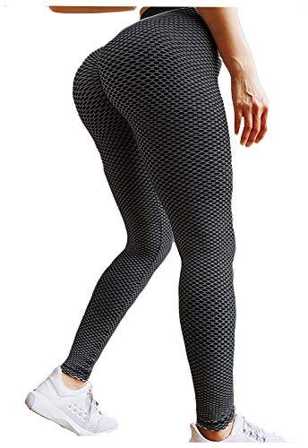 FITTOO Leggings Mallas Mujer Pantalones Deportivos Yoga Alta Cintura Elásticos y Transpirables Negro Extra Chica