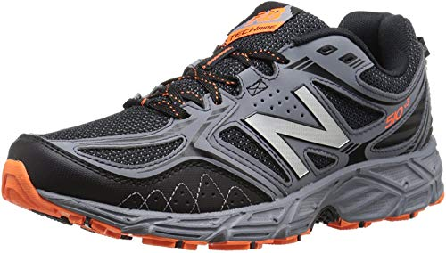New Balance Men's 510 V3 Trail Running Shoe, Black/Grey, 8 4E US