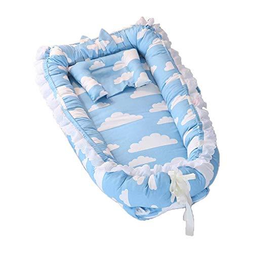 YYhkeby RipengPI - Cama portátil para bebé de viaje para dormir, suave y transpirable, de algodón para bebé Jialele