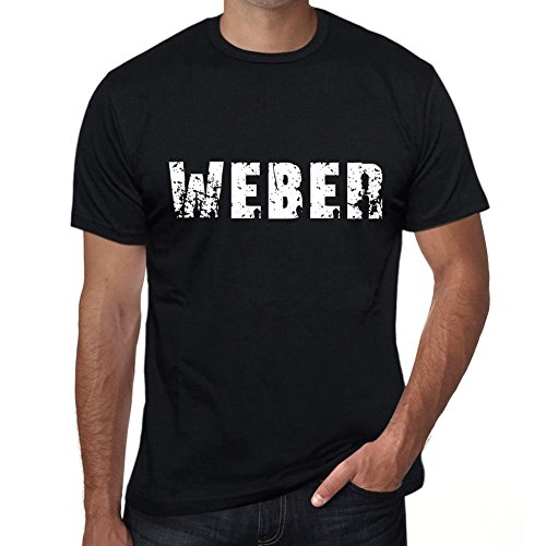 One in the City Weber Hombre Camiseta Negro Regalo De Cumpleaños 00553