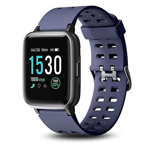 Letsfit Fitness Trackers, Smart Watch with Heart Rate Monitor, 5ATM Waterproof Touch Screen Smartwatch with Sleep Monitor, 14 Sports Mode Pedometer with Step Counter Message Reminder for Men Women