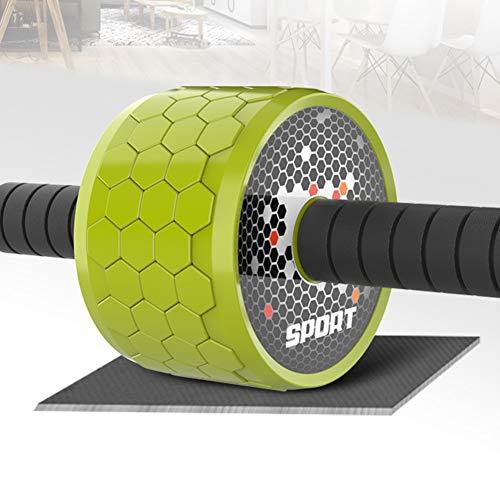 XIUQI Bauchtrainer Roller, Ab Roller Bauchroller - Doppelt Core Ab Wheel - Workout Für Abs, Rücken, Arme, Schultern, Torso, Hüften - Enthält Kniend Matte,D