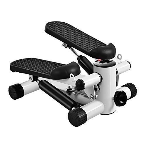Sinbide Stepper mit Widerstandsband Up-Down-Stepper, Mini-Fitnessgerät, Heimtrainer, Stepper für Zuhause, Swing Stepper für Bein Training Pedalmaschine, Nutzergewicht bis 135kg