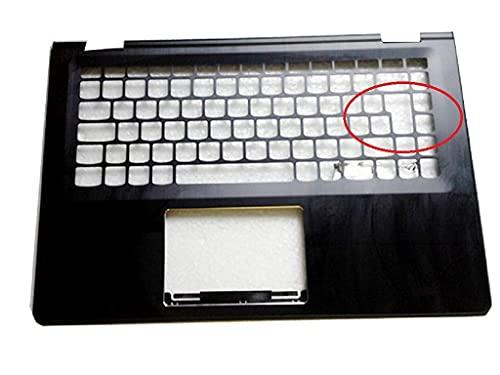 Teclado de repuesto para computadora portátil con bisel Compatible con Lenovo Compatible con Yoga 500-14IBD Flex 3-1470 Diseño del Reino Unido Teclado de entrada grande Cubierta del bisel Estuche supe