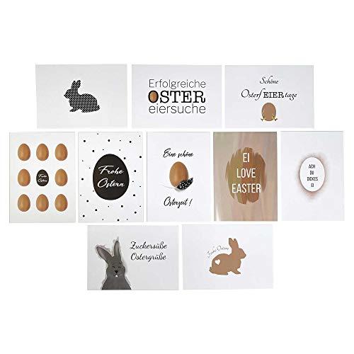 KATINGA 10er Set Postkarten zu Ostern - Osterkarten versenden, Freude schenken
