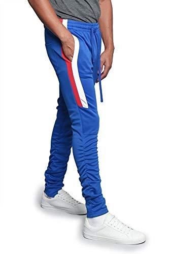G-Style USA Herren Trainingshose, seitliche Streifen, Knöchel, Reißverschluss, Kordelzug -  mehrfarbig -  Groß