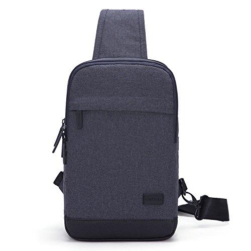 TINYAT T602 Simplicity Sling Bag Chest Pack Casual Crossbody Travel Shoulder Bag for Women/Men T602, Grey