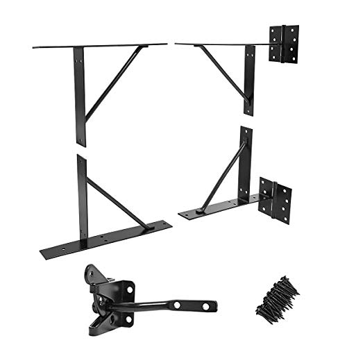 GoldOrcle Anti Sag Gate Kit Heavy Duty No Sag Kit for Wooden Gate Fence with a Gate Latch