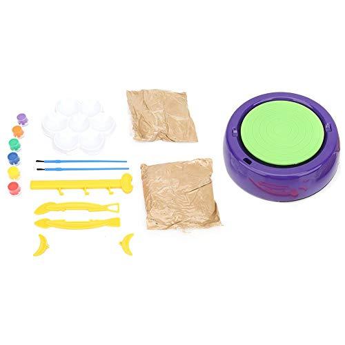 Clasken Rueda de cerámica de Arcilla, Segura y Conveniente, Rueda de cerámica, Material plástico, máquina de cerámica, para Kit de Arte, Rueda de cerámica de Juguete para niños