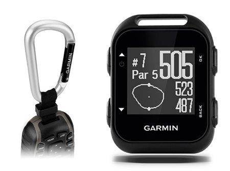 Garmin Approach G10 Golf GPS with Garmin Lanyard Carabiner & Belt Clip | Pocket-Sized Handheld GPS Bundle | 010-01959-00
