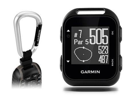Garmin Approach G10 Golf GPS with Garmin Lanyard Carabiner & Belt Clip | Pocket-Sized Handheld GPS Bundle | 010-01959-00