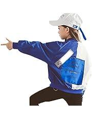 子供服 ジャケット ブルゾン ジャンパー ダンス衣装 キッズ ジュニア アウター 女の子 男の子 春 秋 冬 コート バイカラー