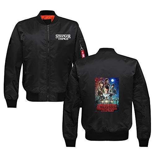 Sjhgfrsd Stranger Things Pullover Mens Bomberjacke Wasserdicht Langarm bedruckter Mantel Hipster Oberbekleidung mit Reißverschluss Unisex...
