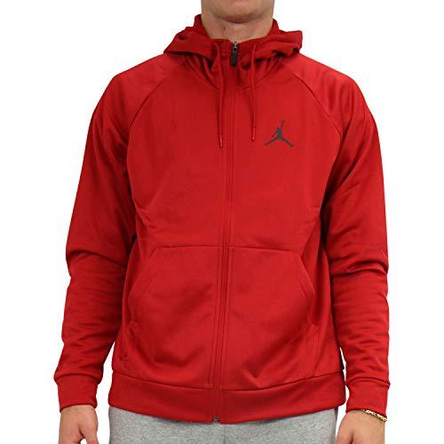 Nike M J 23alpha Therma FLC Fz Langarm-Top für Herren XXL rot/schwarz (Gym Red/Black)