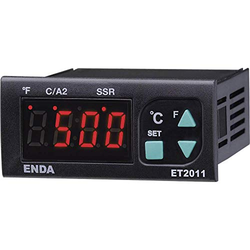 Enda ET2011-RT-230 PID Temperaturregler Pt100-100 bis +600 °C Relais 8 A, SSR (L x B x H) 71 x 77 x 35 mm