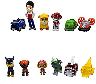 12 Pcs PAW Patrol figure Snow Slide Toys Deluxe Mini Cake Toppers Cupcake Decorations Party