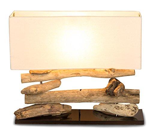 levandeo Tischlampe Treibholz 50x17cm 43cm hoch Unikat Lampe Holz