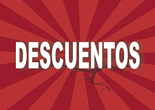 Cartel Descuentos   Varias Medidas 70 cm x 50 cm   Cartel publicitario Descuentos   Cartel Oferta Descuentos   Cartel Oportunidad Descuentos