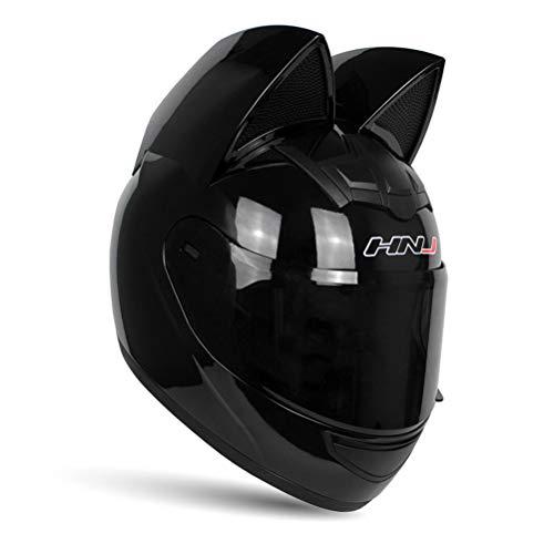 motorcycle street helmets Cat Ear Helmet Motorcycle Women Men, Full Face Motorcycle Street Helmet Cat Helmet with Ears Neko Cat Ears Helmet Accessories