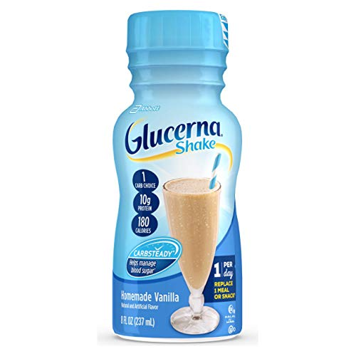 Glucerna, Diabetes Nutritional Shake, with 10g of Protein, to Help Manage Blood Sugar, Homemade Vanilla, 8 fl oz (Pack of 16)