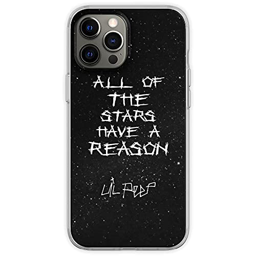 Compatible with iPhone XR Case Lil Peep Star Shopping Lyrics Starry Background Soft TPU Print Pure Clear Phone Case Cover