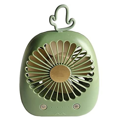 QZH Lindo Ventilador de Mano de piña Mini Ventilador Recargable Cactus Ventilador de Escritorio portátil Dormitorio de Estudiantes USB Mute (D)