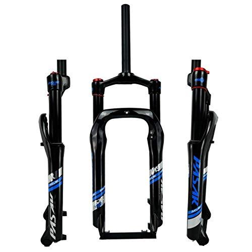 SJHFG Horquilla Delantera para Motos Nieve de 20 Pulgadas,Horquilla de Aire Resorte Aceite Amortiguador de ATV Aleación Aluminio Neumático Ancho 4.0 Bicicleta de Montaña 135MM (Color : Black)