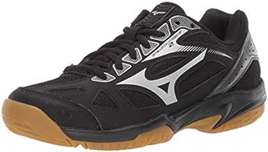 Mizuno Unisex-Kid's Cyclone Speed 2 Junior Indoor Court Shoe, blacksilver, 3 Child US Big Kid