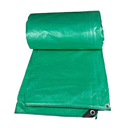 JANEFLY Heavy Duty Tarpaulin Waterdicht, Outdoor Groot Multi Purpose Tarpaulin Groen voor Grondblad, schaduw, Hutch, Trampoline, Camping of Tuinieren - Diverse Maten 180g/m2