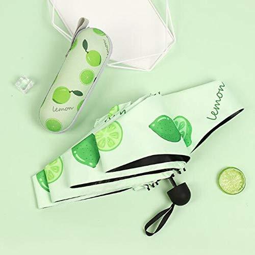 Mini paraguas de bolsillo cápsula 210T densidad cinco plegable protección solar paraguas de color fresco en las mujeres - lima, a1