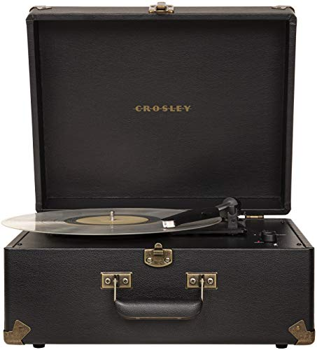 Crosley CR6253A-BK Anthology Vintage 3-Speed Bluetooth Suitcase Turntable, Black