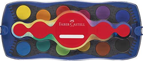 Faber-Castell 125001 - Farbkasten Connector, 12 Farben, blau, 1 Stück