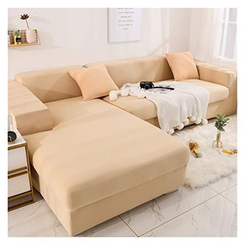 NEWRX L Forma Necesita Comprar 2 Piezas Estiramiento de Color sólido Sofá de Esquina Cubiertas para Sala de Estar Elastic Spandex Slighcover Sofá Cubierta Sofá Toalla