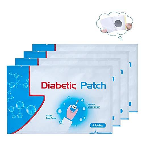 PKA - 6 Parches diabéticos para estabilizar el Equilibrio de azúcar en la Sangre y glucosa, Color Blanco